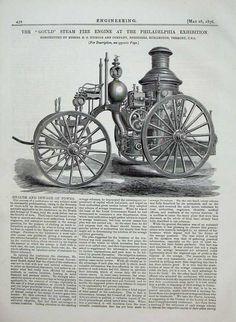 1876 Philadelphia Exhibition Steam Fire Engine Engineer