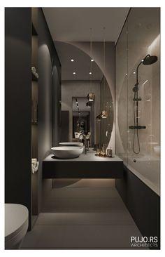 Modern Luxury Bathroom, Bathroom Design Luxury, Modern Bathroom Design, Small Luxury Bathrooms, Washroom Design, Toilet Design, Apartment Interior, Apartment Design, Home Room Design