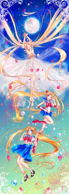 Sailor Moon transformations of the first season!
