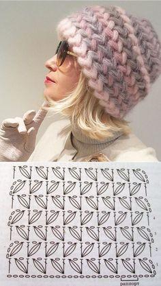 46 Patrones, Punto Puff en crochet (Puff Stitcho Crochet) Knitting For BeginnersKnitting HumorCrochet BlanketCrochet Bag Crochet Cap, Crochet Beanie, Love Crochet, Knitted Hats, Crochet Motif, Crochet Stitches Patterns, Knitting Patterns, Crochet Crafts, Crochet Projects