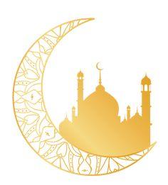 Islam Mosque Ramadan moon decorations PNG and Vector - Ramadan Greetings, Eid Mubarak Greetings, Eid Crafts, Ramadan Crafts, Islamic Art Pattern, Pattern Art, Islam Moon, Decoraciones Ramadan, Eid Mubarak Wallpaper