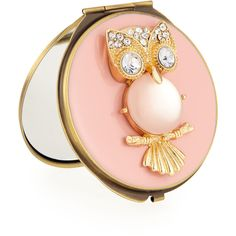 Neiman Marcus Pink Owl Compact Mirror found on Polyvore