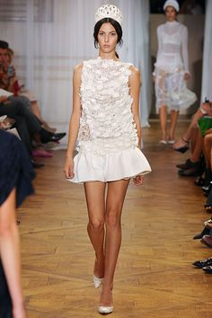 Love love love white for Spring. Especially here, at Nina Ricci...so fresh and young!