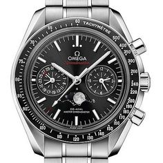 New Omega Speedmaster MoonPhase Moonwatch 44mm Steel Watch 304.30.44.52.01.001