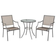 Threshold™ Patten 3-Piece Sling Bistro Furniture...  Target Mobile  sc 1 st  Pinterest & Hawthorne 3-Piece Metal Patio Bistro Furniture Set - Blue @Target ...