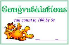 Here @Lauren Rice Lovecchio, @Kara Gulino, @Michel Comstock: Counting certificates (word doc): Change that Garfield...