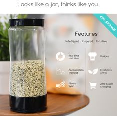 The world's first smart jar with Real-time Nutrition,  Healthy Recipes and Zero Touch Shopping! | Crowdfunding is a democratic way to support the fundraising needs of your community. Make a contribution today!