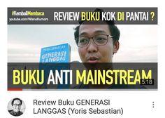 Video review bukunya mas @yorissebastian #GenerasiLanggas ttg generasi millenials. Penasaran? Ayo tonton like & subscribe!  Link di Bio. Atau http://ift.tt/2ckTsJw  #Youtube #youtubersindonesia #vlog #vlogger #dagelan #reviewbuku #review #buku #millenials #booktube #booktuber #booktuberindonesia