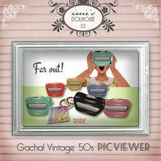 Second Life 1950s Vintage Retro Mesh Gacha! PicViewer Toy @ irrie's Dollhouse  http://irriesdollhouse.tk