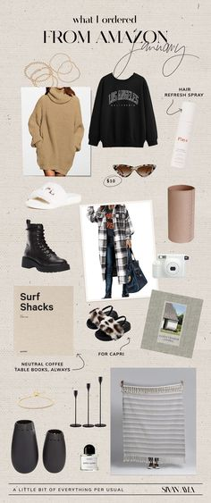 WHAT I ORDERED FROM AMAZON // Check out all the items Sivan purchased this JANUARY | Sivan Ayla #amazon #musthaves Autumn Cozy, Brand Me, Chic Outfits, Casual Chic, Must Haves, January, Wax, Amazon, Board