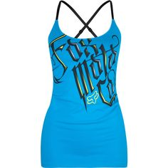 FOX Contender Womens Cross Back Tank ($26) ❤ liked on Polyvore featuring tops, shirts, tank tops, tanks, fox, tanks & camis, women, cami tank, blue top and cotton shirts