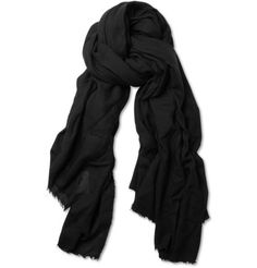 Rick Owens Wool and Cashmere-Blend Scarf | MR PORTER