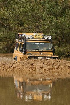 It's only a puddle! #OffRoad #Adventure #Explore #Travel #Messy #Fun