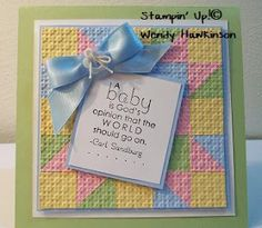 Got Rubber...Will Stamp!: God's Opinion Baby Quilt