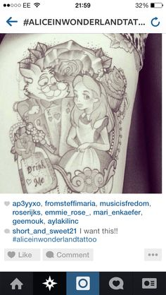 Alice in Wonderland tattoo sleeve ideas :) Classic Alice