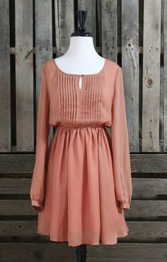 Vintage Days Rust Dress - Scissortail Clothing Company
