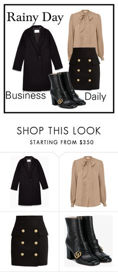 """""""Untitled #12"""" by connieimageconsultant on Polyvore featuring L'Agence, Balmain and Gucci"""