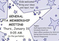 PTA Membership Meeting
