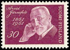 Postage stamp depicting Finnish writer Arvid Järnefelt.