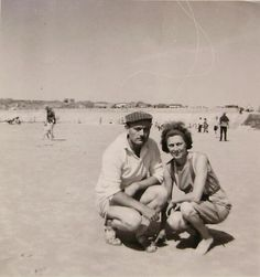 French 1960's Summer Photo  Couple On the Beach at by ChicEtChoc, $3.00
