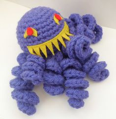 Ultros Amigurumi from final fantasy, even scary in his crochet form! Crochet Toys, Knit Crochet, Crochet Monsters, Nerd Crafts, Yarn Bombing, Video Game Characters, Friend Birthday, Granny Squares, Final Fantasy