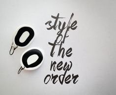 Black ´n White Earrings - Plastic Fimo Clay