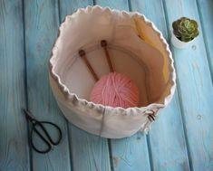 Canvas Project Bag for Knitting Crochet drawstring knitting bag Knitting Project Bag Project Storage Bag Knitter's Bag Bag to knit on the go Knitted Bags, Knitting Projects, Bag Storage, Simple Designs, Knit Crochet, Canvas, Handmade, Etsy, Knitting Designs