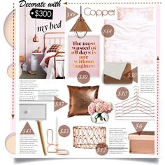 Copper & Blush Bedroom Decor For Less Than $300!