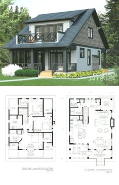 Handwerker - Nahezu perfekter Grundriss - Craftsman - Almost perfect floor plan - # Sims House Plans, Dream House Plans, Cottage Floor Plans, Lake House Plans, Tiny Home Floor Plans, 3 Bedroom Home Floor Plans, Small Cottage Plans, Guest House Plans, Small Cabin Plans