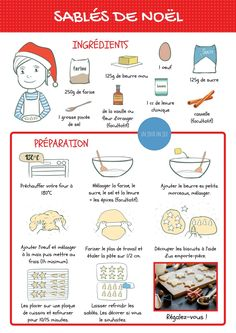 Games, books, music, entertainment, trips and activities for children - Cooking - noel Shortbread Recipes, Cookie Recipes, French Food, Learn French, Cookies Et Biscuits, Easy Cooking, Easy Desserts, Snacks, Health Tips