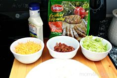 Low Carb Recipe - Grilled Chicken Ranch and Bacon Wrap Ingredients