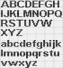 alphabet on graph paper for knitting
