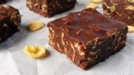 Prajitura cu ciocolata si unt de arahide, fara coacere