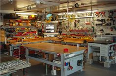 Workshops must also work. If you are hands on, then take the time to think logically about work flow and service provisions. Power outlets on the face edge of benches is a great idea. It will save you dragging cords across work and knocking tools onto your painted floor. Jayde Deverson - Garage Mahal International.