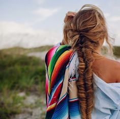 Looks a bit like my hair! Long, blonde, braided, and messy