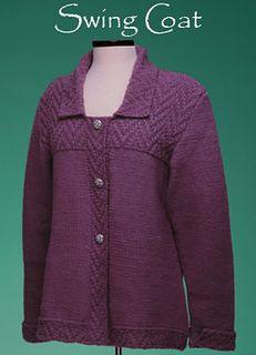 Vermont Fiber Designs 150 Swing Coat designed by Sue McCain Knitting Patterns Free, Free Knitting, Knitting Sweaters, Crochet Patterns, Knit Cardigan Pattern, Yarn Sizes, Yarn Store, Swing Coats, Sweater Jacket