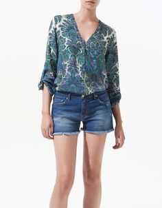 PRINTED CASHMERE BLOUSE - Shirts - Woman - New collection - ZARA United States