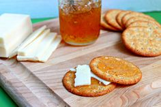 This Hot Pepper Jelly is one of my favorite toppings on crackers, pork, poultry..you name it! The jelly gives it a wonderful zing!