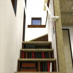 bookshelves can be built into the staircase even if you do something else with the under staircase space.
