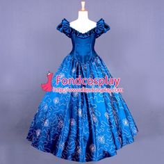 US$ 158.3 - Victorian Rococo Medieval Gown Ball Gothic Embroidered Tafetta Dress Cosplay Costume Tailor-Made[G830] - www.fondcosplay.com Medieval Gown, Rococo, Cosplay Costumes, Gothic, Victorian, Gowns, Female, Disney Princess, Dresses