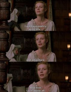 One of my favourite movie quotes ever - Shakespeare in Love