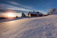 """Snowbound Hamlet at Sunset Go to http://iBoatCity.com and use code PINTEREST for free shipping on your first order! (Lower 48 USA Only). Sign up for our email newsletter to get your free guide: """"Boat Buyer's Guide for Beginners."""""""