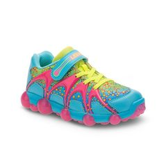 Stride Rite Leepz Toddler Girls' Light-Up Sneakers, Girl's, Size: 3, Blue