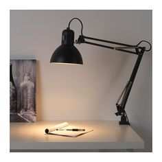 TERTIAL Work lamp - IKEA $12.99 I think this is beautiful, plus it clamps + it's a great price. Also available in bright yellow and green.
