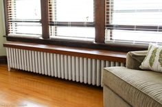 Radiator painting can be time consuming and tedious, but not with this tutorial! Lean how to paint a radiator the easy way! Save time and frustration. Radiator Cover, House Design, Curtains, Inside, Blinds, Diy Radiator Cover, Home Decor, Room