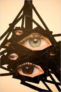 Screamadelica (détail du collage) - Jim Lambie (2004)