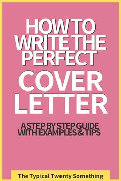 Writing a cover letter? That is no easy task. Follow this guide to cover letters to see examples, templates, for resumes and more. You need to include a cover letter in your next job application, so follow these tips here. The perfect guide to cover letters for job applications, sample, short, no experience, email Great Cover Letters, Perfect Cover Letter, Writing A Cover Letter, Basic Resume Examples, Professional Resume Examples, Sales Resume, Manager Resume, Job Resume, Resume Writing