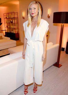 gwyneth paltrow look macacão culottes branco