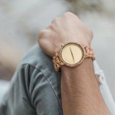 "Drevené hodinky XO ""Curly Birch"" Wooden Watch, Birch, Curly, Passion, Watches, Accessories, Wooden Clock, Wristwatches, Clocks"