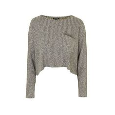 TopShop Slouchy Pocket Top (145 ILS) ❤ liked on Polyvore featuring tops, sweaters, khaki, pocket tops, jersey top, long sleeve jersey, ribbed top and slouchy tops